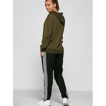 Black and White Striped Track Pants - M M