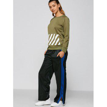 Color Block Furcal Track Pants - BLACK L
