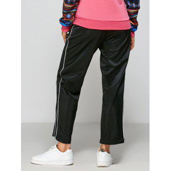 Striped Elastic Waist Fitting Track Pants - ONE SIZE ONE SIZE