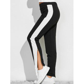 Color Block Zipper Furcal Gym Pants