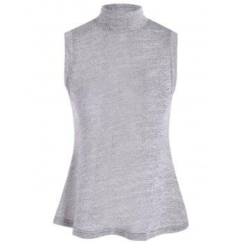 Lace Up Back High Collar Sleeveless Jumper Sweater