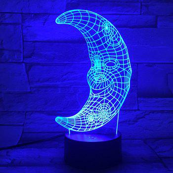 3D Visual Color Changing LED Moon Shape Kids Gift Table Night Light