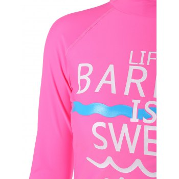 Quick Dry T-Shirt and Shorts Dive Suit - HOT PINK XL