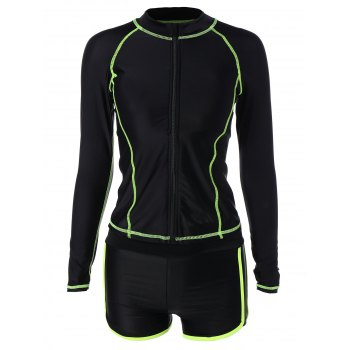 Quick Dry Contrasting Piped Surf Dive Suit