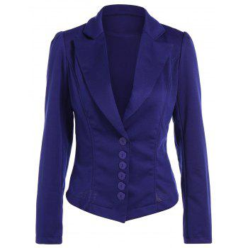 Asymmetric Lapel Single Breasted Blazer