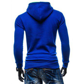 Kangaroo Pocket de New York Impression Sweat à capuche - Bleu 2XL