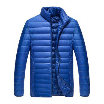 Zipper Fly Stand Collar Down Jacket