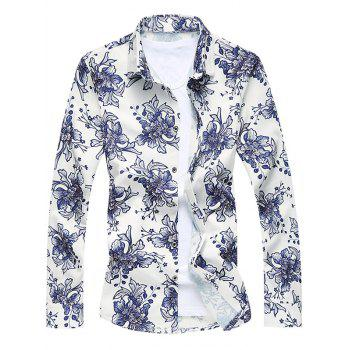 Long Sleeve Sequins Floral Shirt