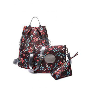 Zippers Color Spliced Print Backpack