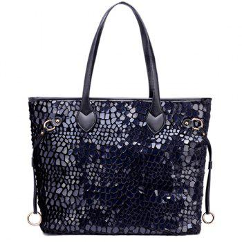 PU Leather Spliced Sequins Shoulder Bag