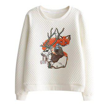 Round Neck Animal Print Sweatshirt