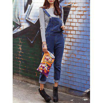 Front Pockets Denim Overalls
