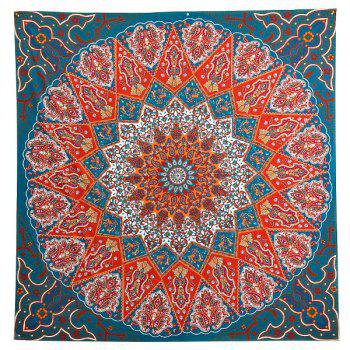 Ethnic Mandala Print Square Beach Throw