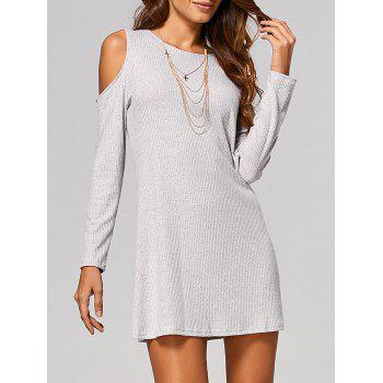 Long Sleeve Cut Out Ribbed Dress