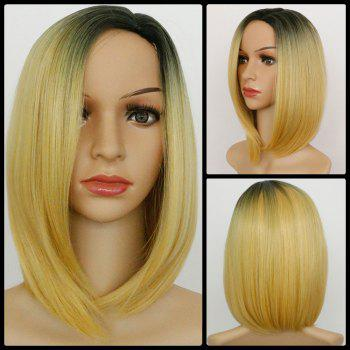 Ombre Straight Medium Side Parting Synthetic Wig