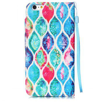 Stand PU Leather Floral Wallet Card Design Phone Case For iPhone 6S - COLORFUL COLORFUL