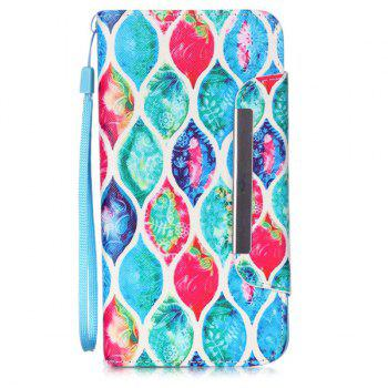 Stand PU Leather Floral Wallet Card Design Phone Case For iPhone 6S - COLORFUL