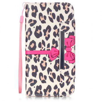 Leopard flip stand PU Card Leather Wallet Fente iPhone 6S Case Plus