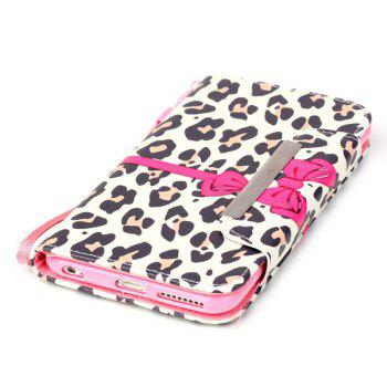 Leopard PU Leather Wallet Card Slot Stand Flip Case For iPhone 6S Plus - LEOPARD
