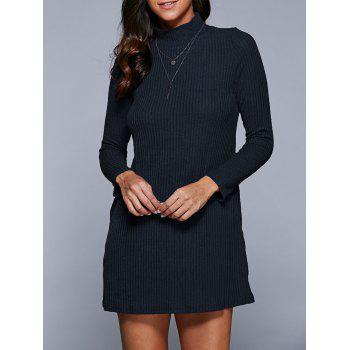 Long Sleeve Mini A Line Sweater Dress