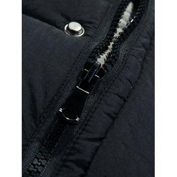 Allonger poches Zip-Up manteau à capuchon matelassé - Noir XL