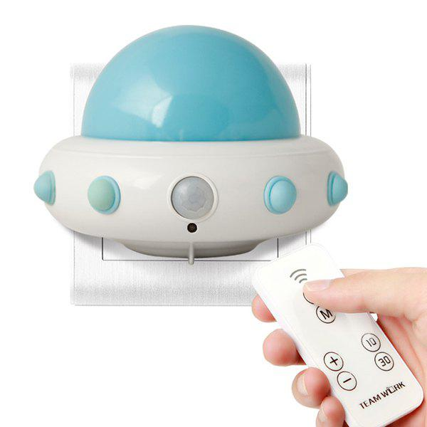 Creative Novelty UFO Remote Control Kids Room LED Night Light newest diy 3d basketball football led night light dia 22cm fashion novel creative wall lamp for children s room bed room 1867