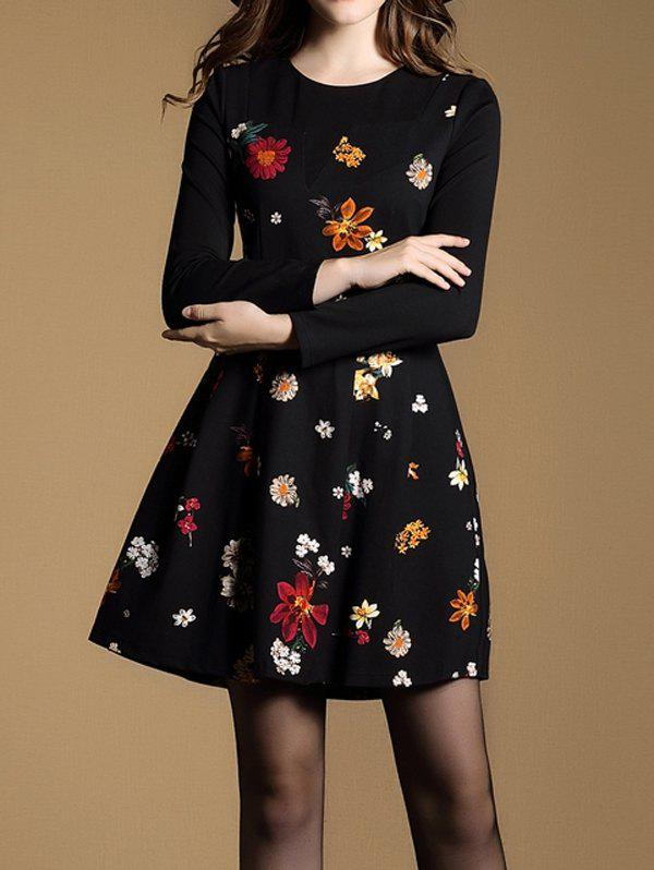 Tiny Floral Fit and Flare Dress sleeveless floral print fit and flare dress