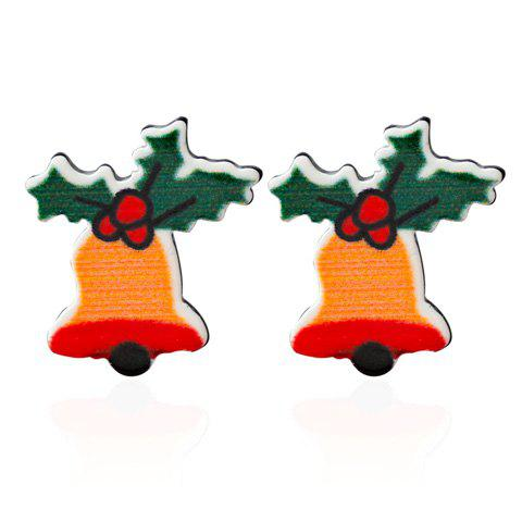 Christmas Bell Leaf Embellished Earrings