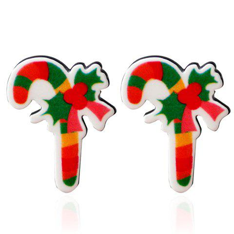 Christmas Candy Cane Stud Earrings