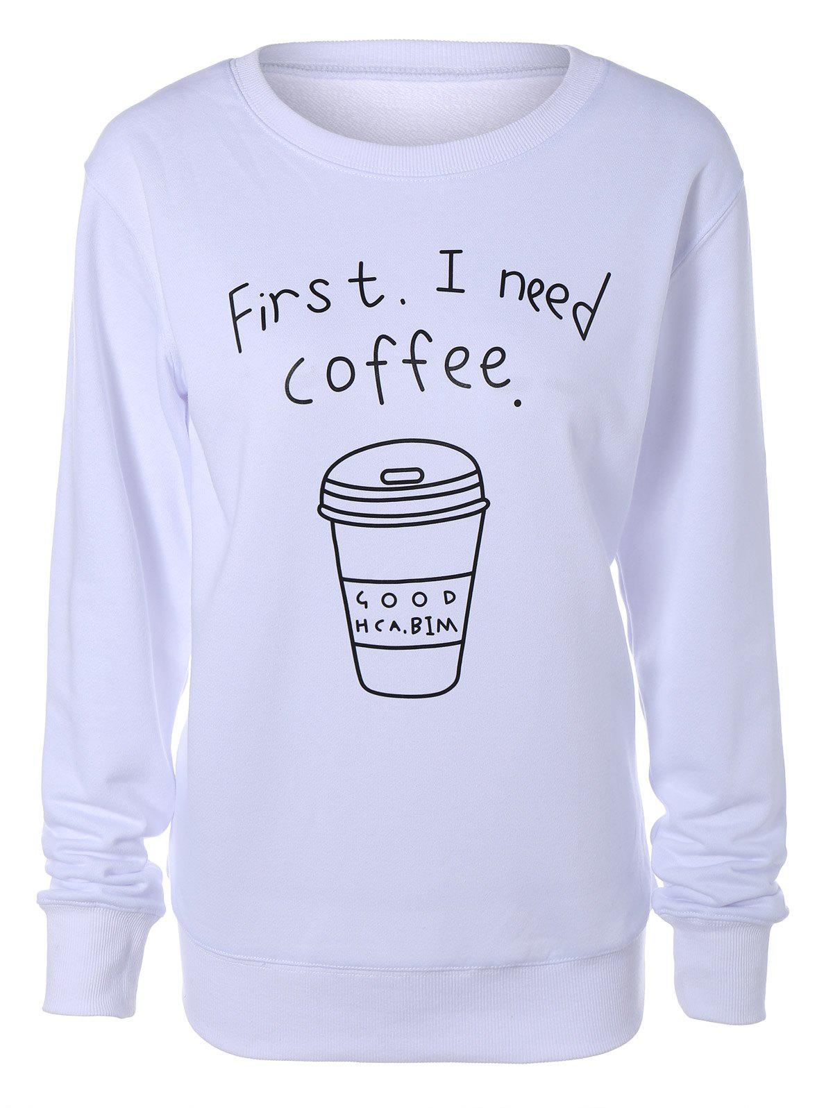 Coffee Cup Letter Casual Sweatshirt xenon lamp 7 45 110mm for ipl and e light machine