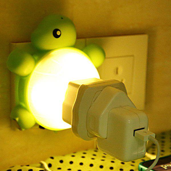 USB Creative Multifonctionnel Socket tortue Night Light - Jaune