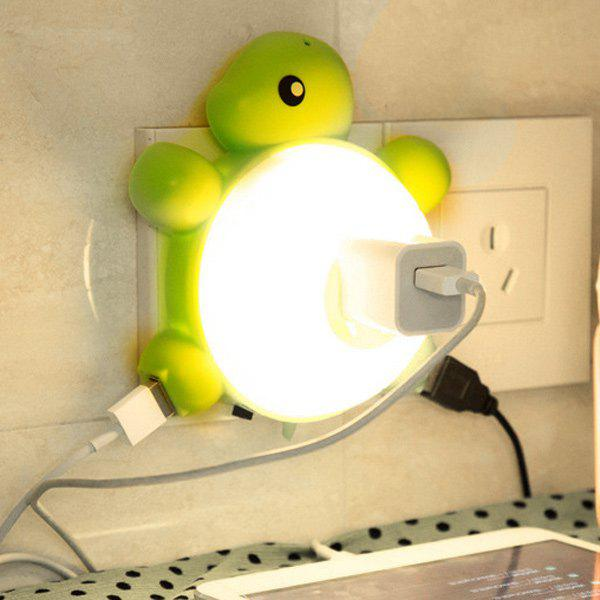 USB Creative Multifonctionnel Socket tortue Night Light - Blanc