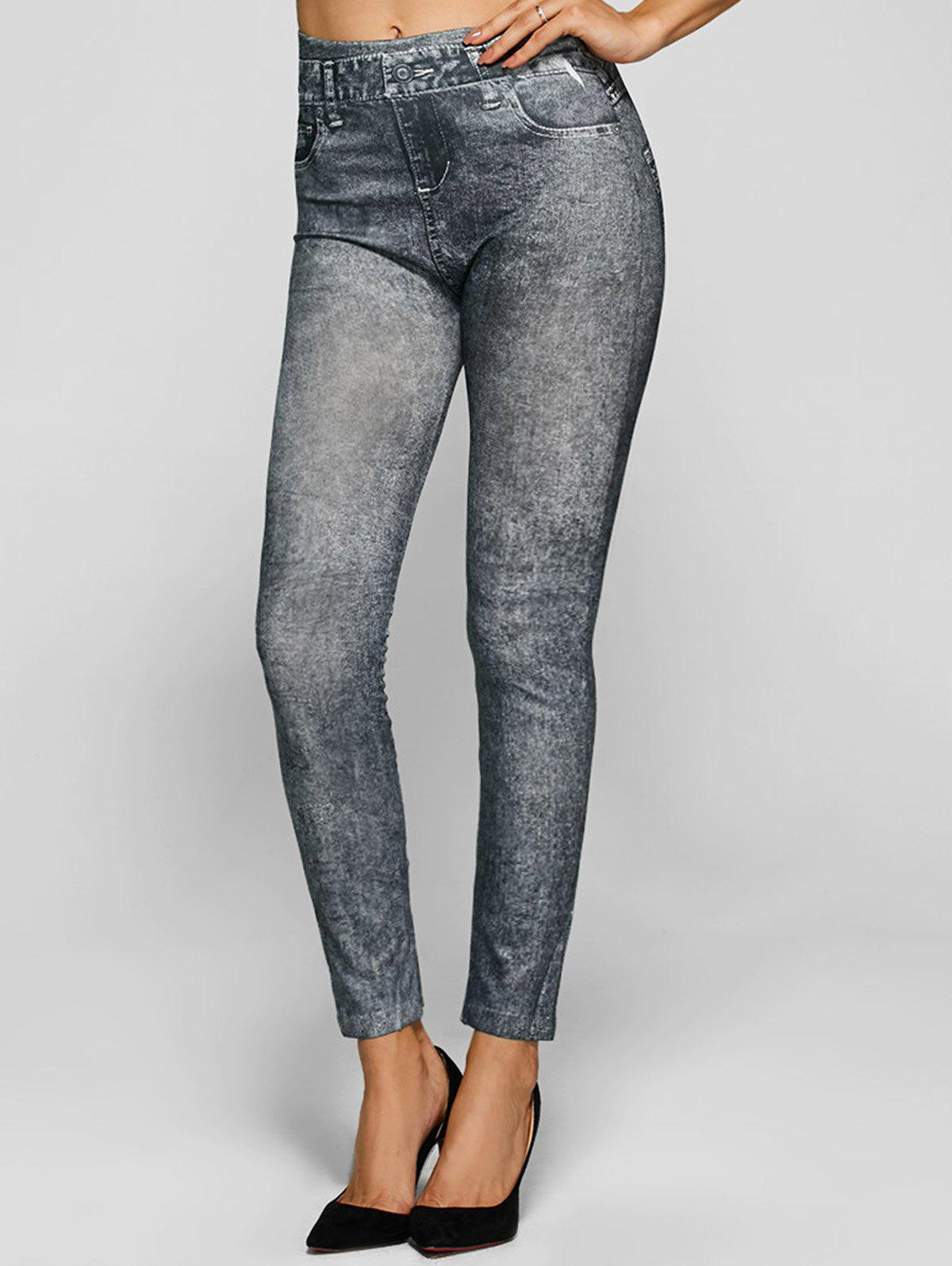 Skinny Jeggings Faux Jean Leggings