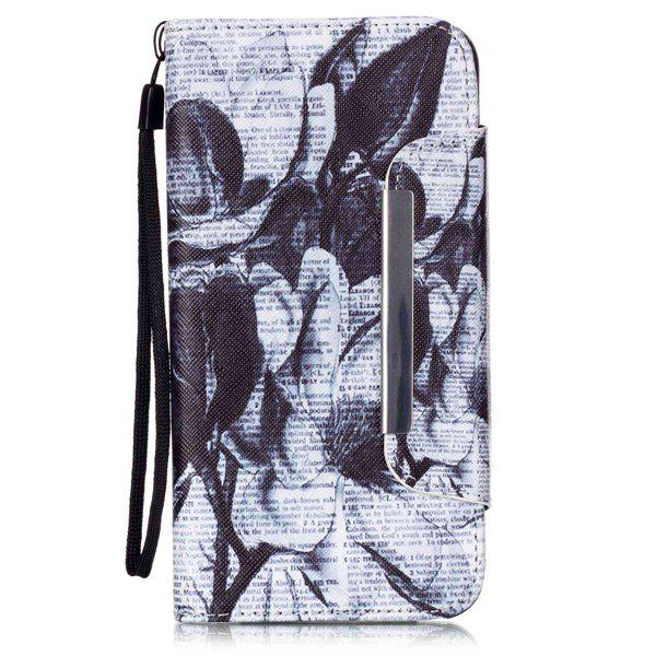 Newspaper Floral Flip Stand PU Leather Wallet Card Case For ipnone 6S Plus leopard pu leather wallet card slot stand flip case for iphone 6s plus