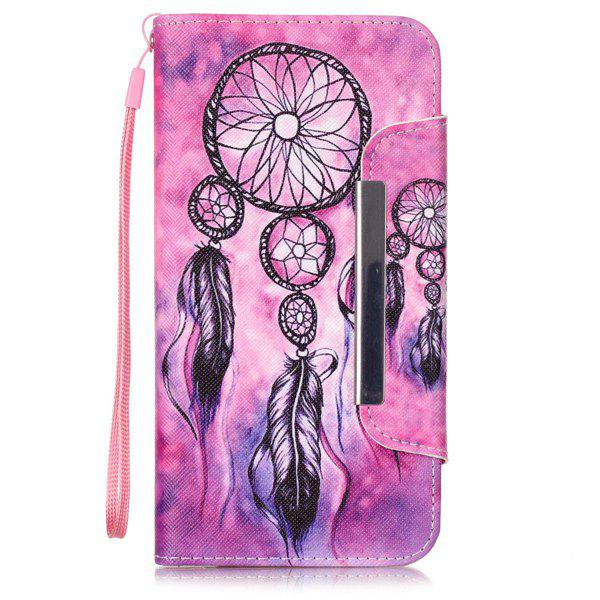 Flip Stand  Aeolian Bells Leather Wallet Design Case For iPhone 6S Plus - ROSE RED