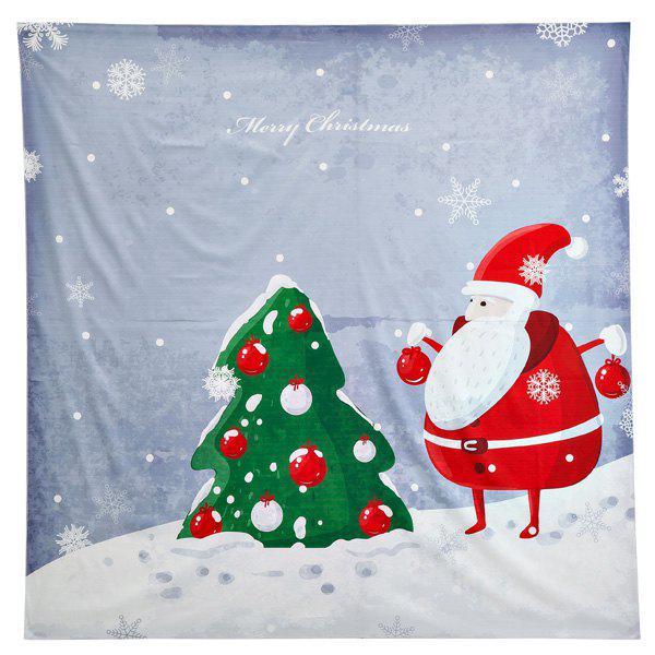 Christmas Santa Claus Print Square Beach Throw - GRAY ONE SIZE