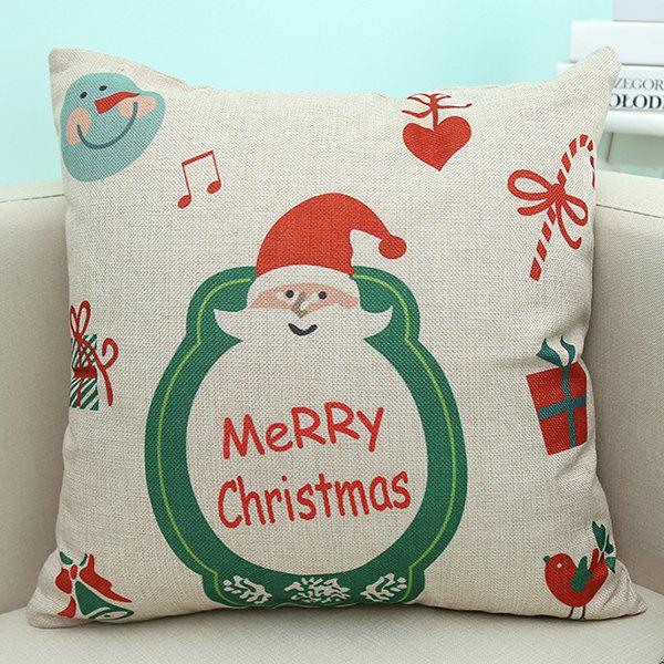 Merry Christmas Santa Printed Linen Sofa Cushion Pillow Case handpainted pineapple and fern printed pillow case