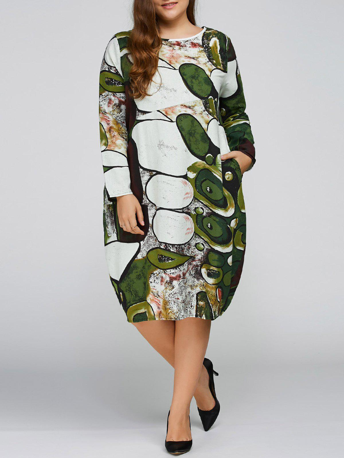 Long Sleeve Plus Size Cocoon Dress long sleeve plus size cocoon dress