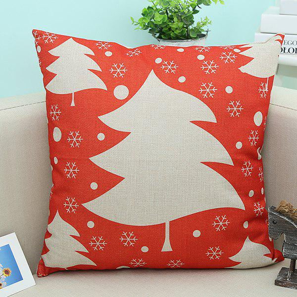 все цены на Home Decor Linen Christmas Tree Printed Sofa Pillow Case в интернете