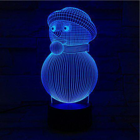 3D Visual 7Color Changing Christmas Snowman LED Decor Night Light creative 7 colors changing 3d visual pencil model table lamp led novelty pen shape night light study room home decor kids gifts