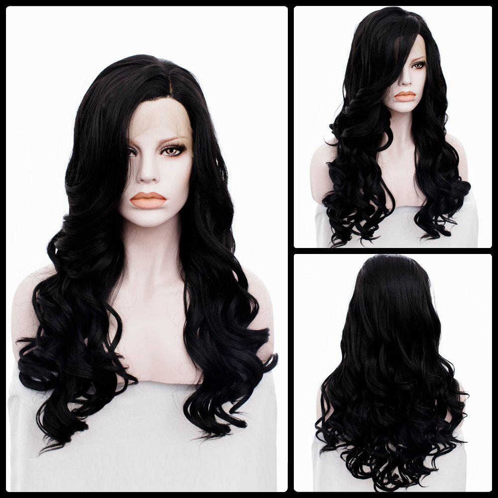 Long Wavy Side Parting Lace Front Synthetic Wig