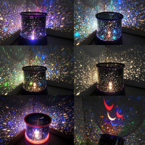 Multi Colors Starry Star Master Gift Led Unique Design Projector Night Light - BLUE