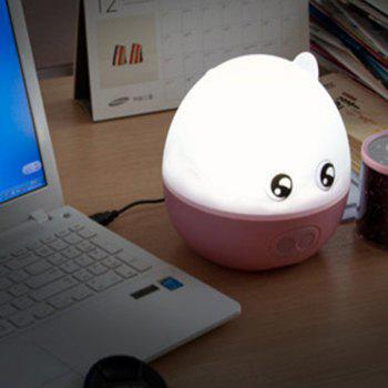 USB Charge 360 ​​° avec projection Cartoon Music Pig Night Light - ROSE PÂLE