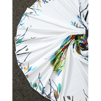 Comfy Christmas Reindeer Print Round Throw Blanket - WHITE ONE SIZE(FIT SIZE XS TO M)