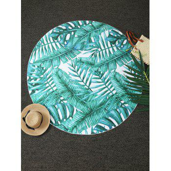 Comfy Tropical Plant Print Round Throw Blanket - GREEN ONE SIZE(FIT SIZE XS TO M)