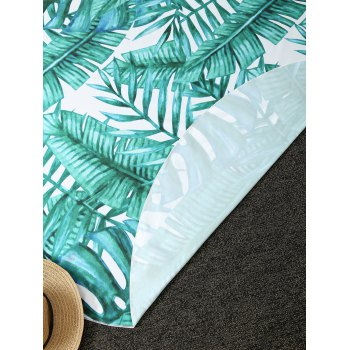 Comfy Tropical Plant Print Round Throw Blanket - ONE SIZE(FIT SIZE XS TO M) ONE SIZE(FIT SIZE XS TO M)