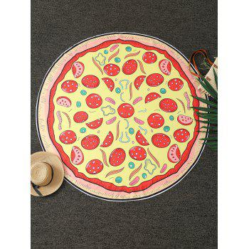 Comfy Pizza Print Round Throw Blanket - YELLOW ONE SIZE(FIT SIZE XS TO M)