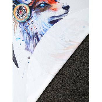 Comfy Creative Fox Print Round Throw Blanket - ONE SIZE(FIT SIZE XS TO M) ONE SIZE(FIT SIZE XS TO M)