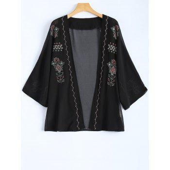 Embroidered Vintage Chiffon Jacket