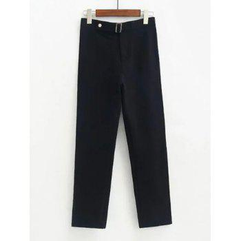 Fitted Woolen Ninth Pants